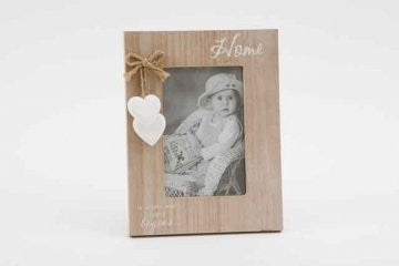 shabby chic washed photo frame home is where our story begins
