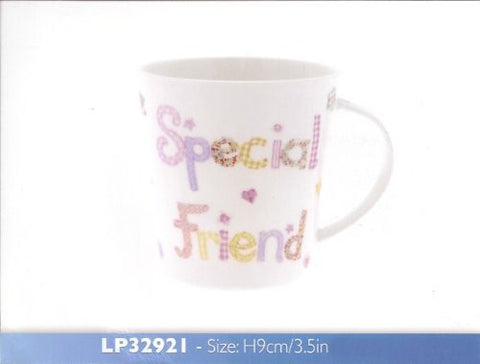Abigail Mill Special Friend Fine China Mug in a Gift Box