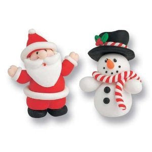 Culpitts - Santa / Snowman - Claydough Cake Topper - BOXED - hanrattycraftsgifts.co.uk