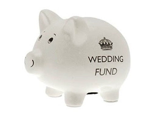 Wedding Fund Pig Piggy Bank - hanrattycraftsgifts.co.uk