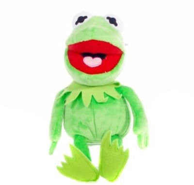 "Special Disney Muppets Flopsies 10"" Kermit Soft Plush Toy - Cleva® Bundle Edition - hanrattycraftsgifts.co.uk"
