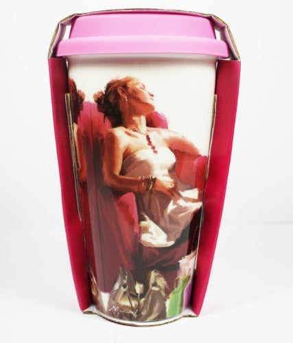 [LP32741] On Sale, Reduced to Clear - 'A Girl's Life' Double Walled Insulation With Silicon Travel Mug, Shopping, Bags etc Design, Make a Great Gift for Mum, Sister, Aunty, Niece, Gran, Keeps Drinks Hot, Ideal For Use On The Move, 6.5 inches/17cm in - hanrattycraftsgifts.co.uk