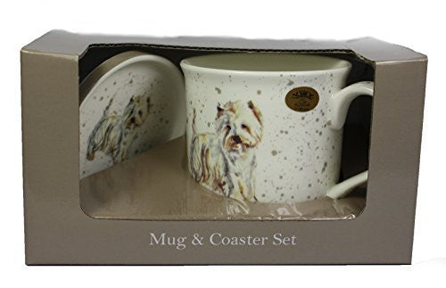 West Highland Terrier Fine China Mug and Coaster Set by Lesser & Pavey - hanrattycraftsgifts.co.uk