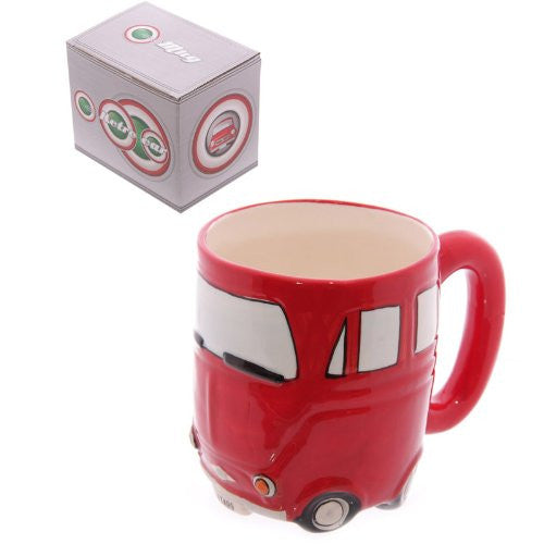 Red Retro Car Mug - hanrattycraftsgifts.co.uk