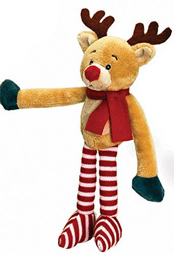 MaSaYa Classic Collection Christmas Hanging Character with Velcro Hands by Keel Toys - REINDEER - hanrattycraftsgifts.co.uk