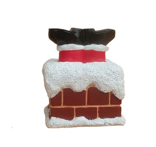 Santa Stuck In Chimney Cake Decorations With Cake Pick - hanrattycraftsgifts.co.uk