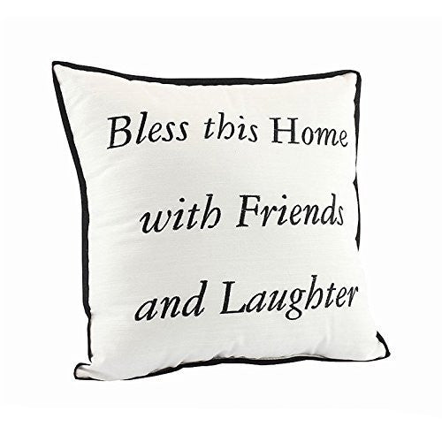 Bless This Home With Friends and Laughter Cushion 30cm x 30cm