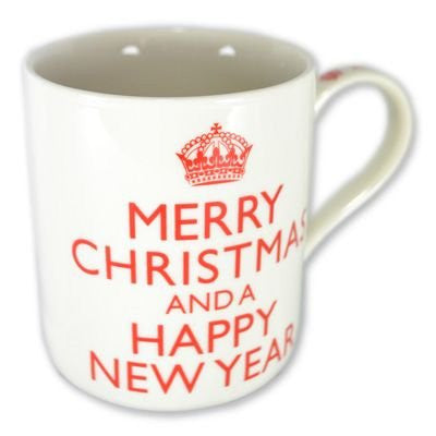 Merry Christmas And A Happy New Year Coffee / Tea Fine China Mug