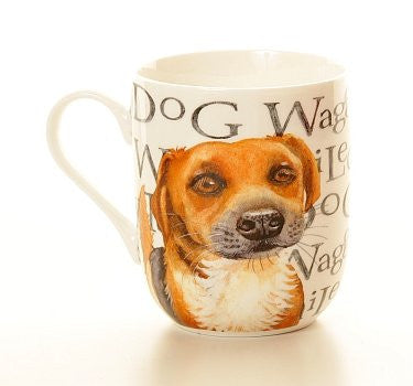 waggy tailed dog mug - hanrattycraftsgifts.co.uk