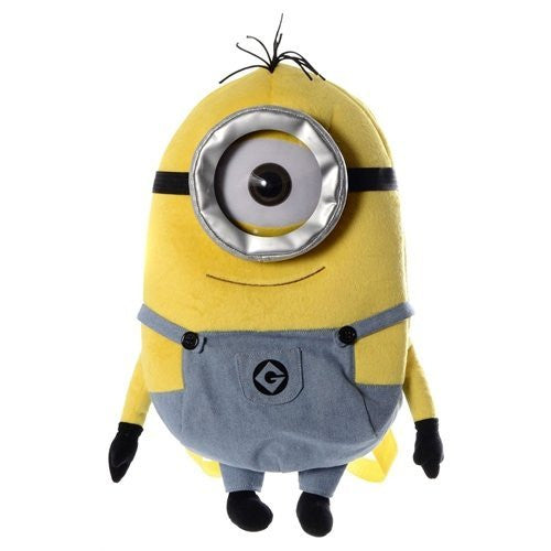 Despicable Me 2 Minion Plush Backpack One Eye Minion - hanrattycraftsgifts.co.uk