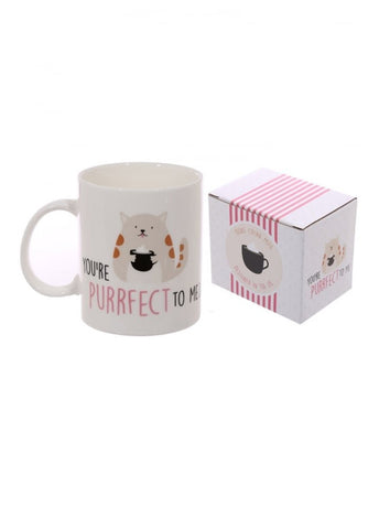 Cute Cat Slogan New Bone China Mug