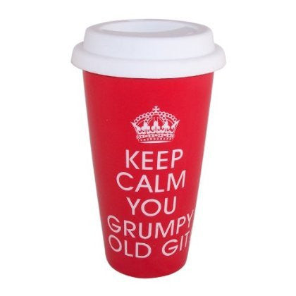 Keep Calm - You Grumpy Old Git Double Walled Travel Mug - hanrattycraftsgifts.co.uk