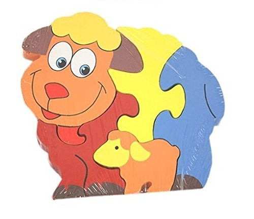 Wooden Toys - Farm Animal Wooden Puzzle - SHEEP - ACKD60675.SHEEP - Ackerman
