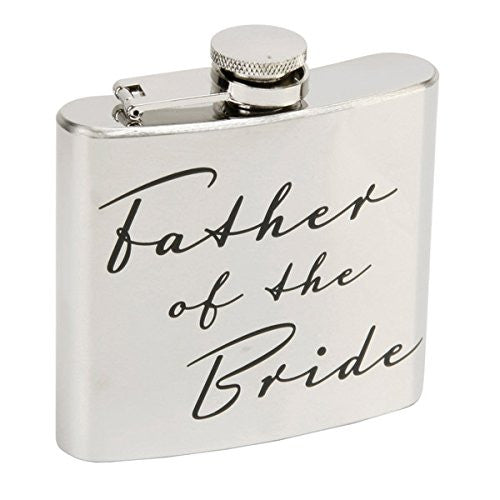 Father of the Bride Hip Flask - hanrattycraftsgifts.co.uk