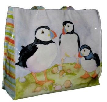 emma ball puffin large pvc bag - hanrattycraftsgifts.co.uk