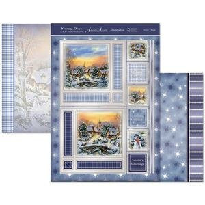 hunkydory adorable scorable luxury card collection snowy days snowy village - hanrattycraftsgifts.co.uk