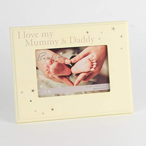 I Love my Mummy & Daddy 6x4 Photo Picture Frame Gift from Baby