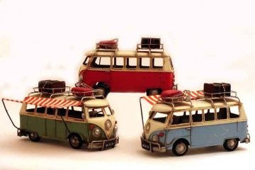 retro vw camper van three colours one supplied at random - hanrattycraftsgifts.co.uk