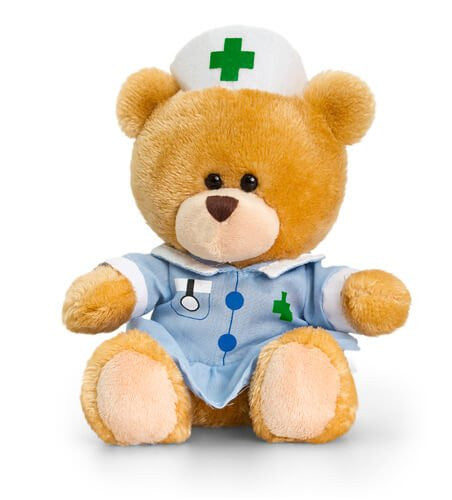 Keel Toys 14CM Pipp The Nurse Bear - hanrattycraftsgifts.co.uk