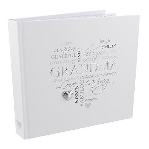 "Heartfelt Moments Photo Album with Foil Wording - 4"" x 6"" - grandma - hanrattycraftsgifts.co.uk"