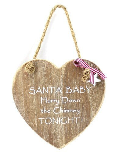 Heart Plaque - Santa Baby