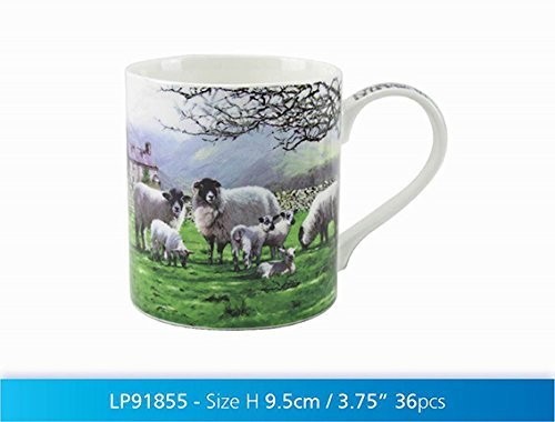 MacNeil Studio Country Sheep Fine China Mug in Gift Box - hanrattycraftsgifts.co.uk