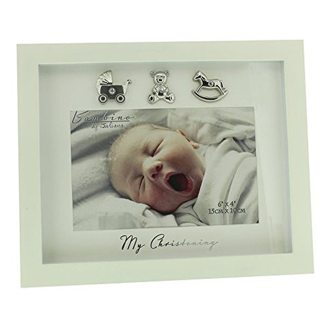 "Bambino Cream MDF Photo Frame ""My Christening"""