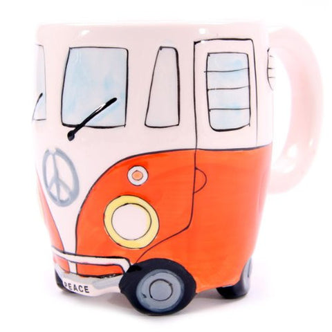 Camper Van Mug, Orange VW Camper Van Mug