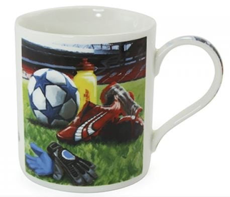 A Man's Life Football Fine China Mug
