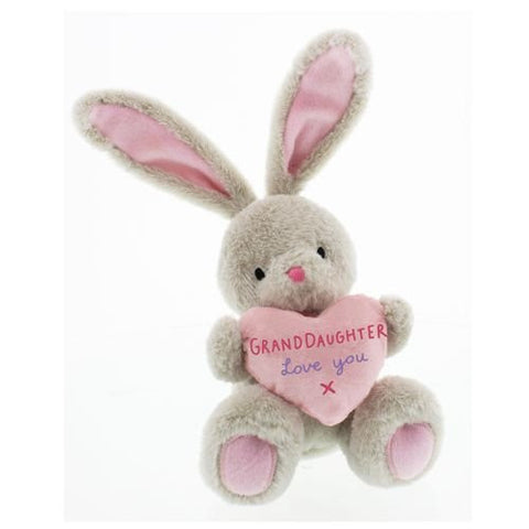 Bebunni Rabbit medium sitting with heart 16 cms Granddaughter