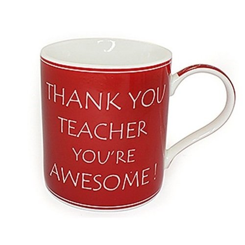 Thank You Teacher You're Awesome Fine China Mug in Gift Box Thankyou Gifts - hanrattycraftsgifts.co.uk