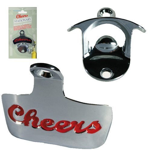 WALL MOUNTED BOTTLE OPENER CHEERS BAR PUB HOME KITCHEN BEER LARGER METAL FIXINGS - hanrattycraftsgifts.co.uk
