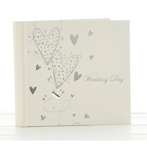 wedding hearts wedding 6 x 4 album - hanrattycraftsgifts.co.uk