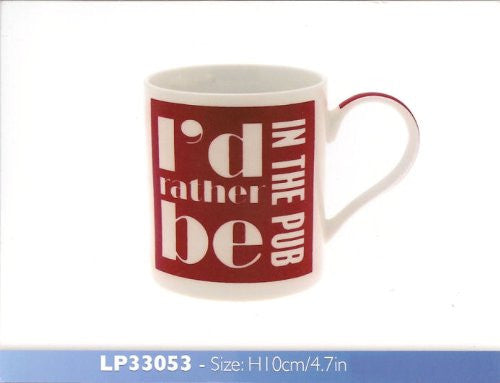 I'd Rather Be In The Pub Mug - Boxed - hanrattycraftsgifts.co.uk