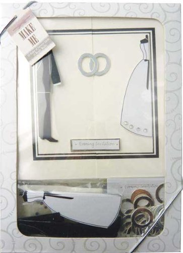 Craftime Bride and Groom Evening Invitation Kits - hanrattycraftsgifts.co.uk