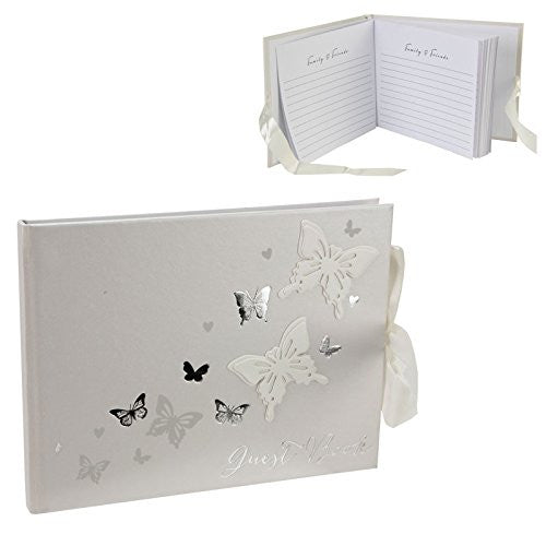 Juliana Wings of Love Butterfly Paperwrap Guest Book - hanrattycraftsgifts.co.uk