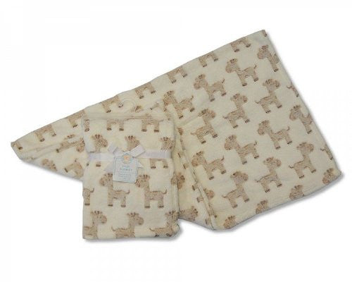 Luxury Soft Fleece Baby Blanket with Cute Giraffe Design 75 x 100cm for Babies from Newborn