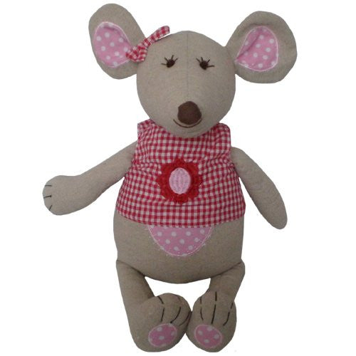powell craft mouse large with red gingham top - hanrattycraftsgifts.co.uk
