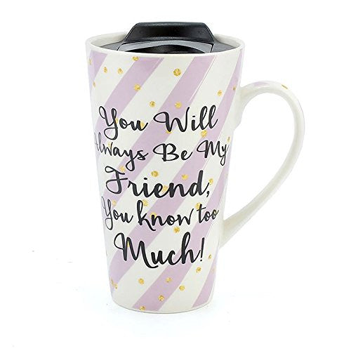 Wise Words Lidded Mug Friend