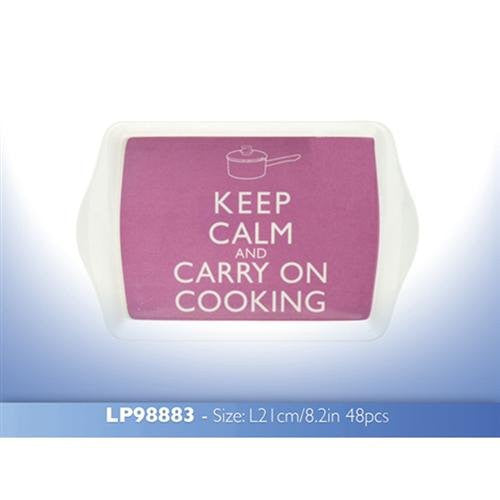Keep Calm And Carry On Cooking Pink Snack Dish