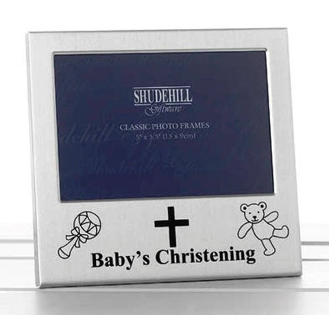 "5"" x 3"" Baby's Christening Photo Frame Occasion Gift Present 73488 - hanrattycraftsgifts.co.uk"