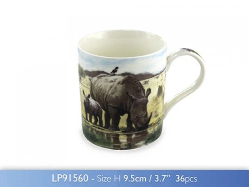 The Macneil Studio - Rhino Fine China Mug - hanrattycraftsgifts.co.uk