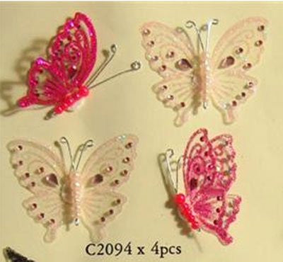 Craft for Occasions Pink Jewel Butterflies. C2094