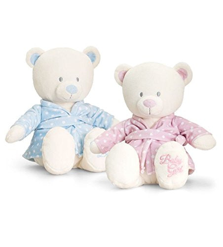 baby bear in dressing gown 25cm pink