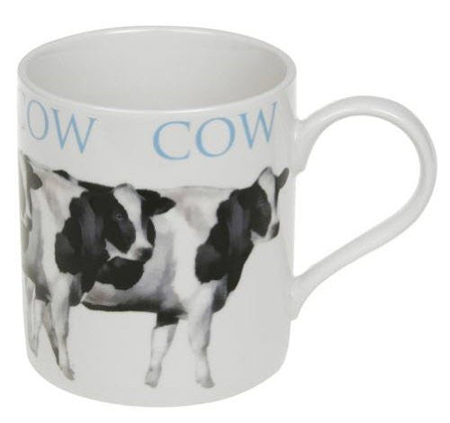 Leonardo collection Fine China mug in a box - Cow design - hanrattycraftsgifts.co.uk