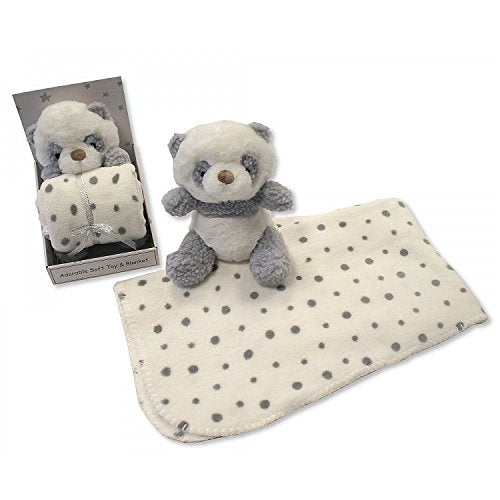 Baby Soft Toy with Blanket in Box – Panda - hanrattycraftsgifts.co.uk