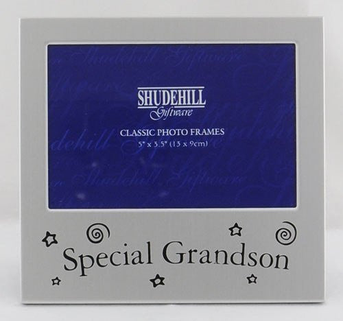 "Special Grandson 5""x3.5"" Satin Silver Photo Frame"