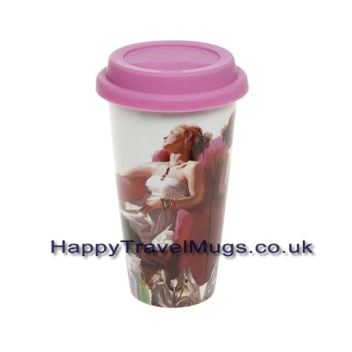 A Girl's Life Relax Design Travel Mug - hanrattycraftsgifts.co.uk