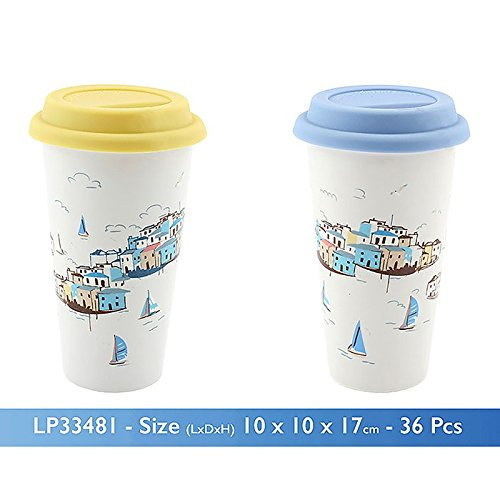 Seaside Themed Sail Away Travel Mug - hanrattycraftsgifts.co.uk