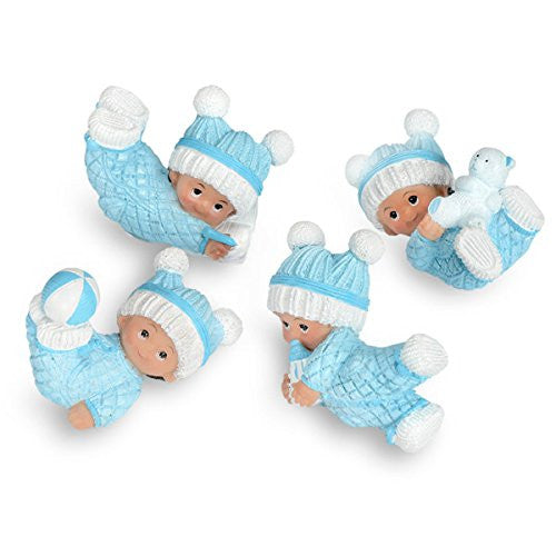 CLUB GREEN Resin Playful Baby, Blue, 71 x 37 x 43 cm, Pack of 12 - hanrattycraftsgifts.co.uk